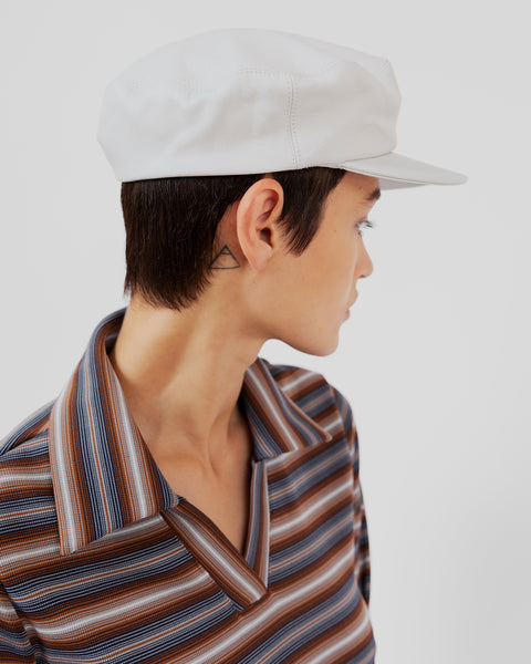 Lambskin Acton Hat in Off White - CLYDE