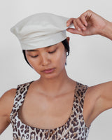 Lambskin Beret in Off White - CLYDE
