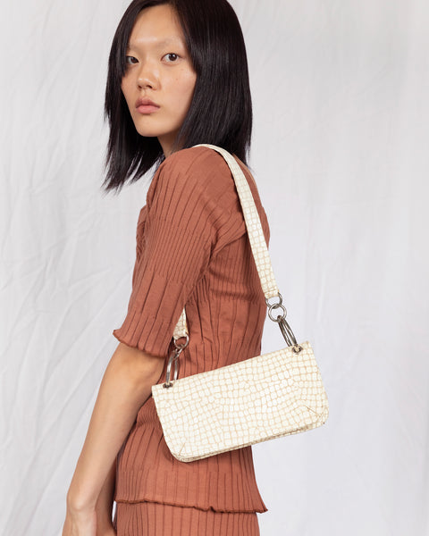 Mindy Bag in Cream Croc - CLYDE