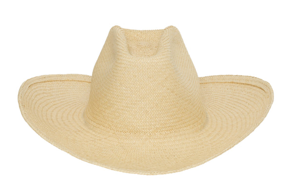 Cowboy Hat in Undyed Natural Panama Straw - CLYDE