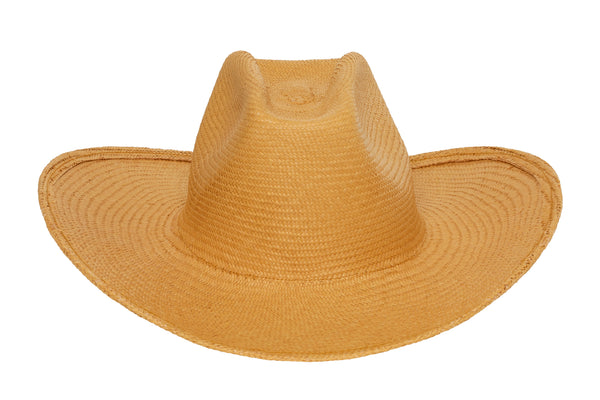 Cowboy Hat in Apricot Panama Straw - CLYDE