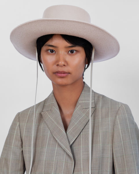 Gaucho Hat in Alabaster Wool - CLYDE