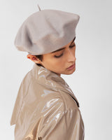 Rohmer Beret in Bone Wool - CLYDE