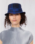 ÉTUDES x CLYDE Bucket Hat in Tartan Blue