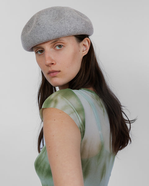 Dent Beret in Heather Grey - CLYDE