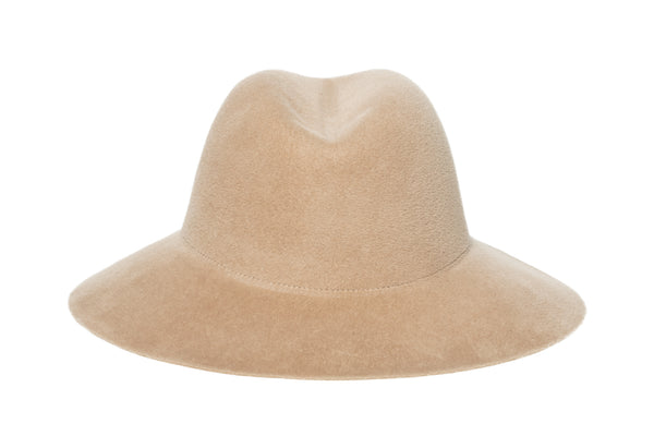 Aura Hat in Camel Angora - CLYDE