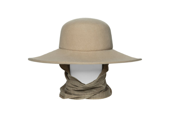 Pearl Hat in Camel Wool - CLYDE