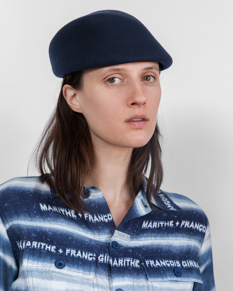 Sazy Hat in Navy Wool - CLYDE