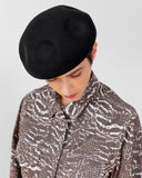 Dent Beret in Black Wool - CLYDE
