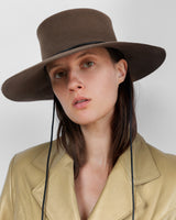 Gaucho Hat in Gobo Sueded Angora - CLYDE