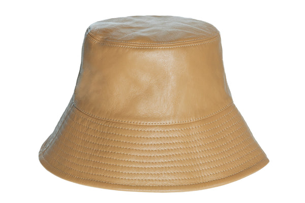 Ebi Bucket Hat in Honey Lambskin - CLYDE