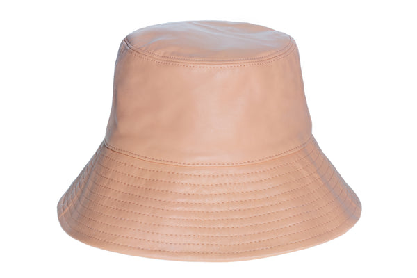 Ebi Bucket in Papaya Lambskin - CLYDE