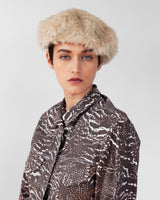 Fur Beret in New Ecru - CLYDE