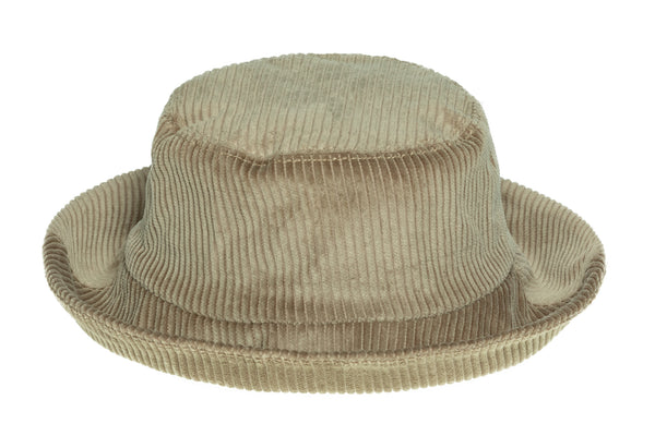Corduroy Ebi Bucket Hat in Taupe - CLYDE