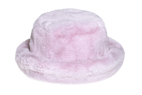 Fur Bucket Hat in Violet - CLYDE