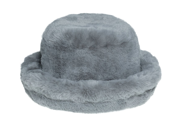 Fur Bucket Hat in Overcast - CLYDE