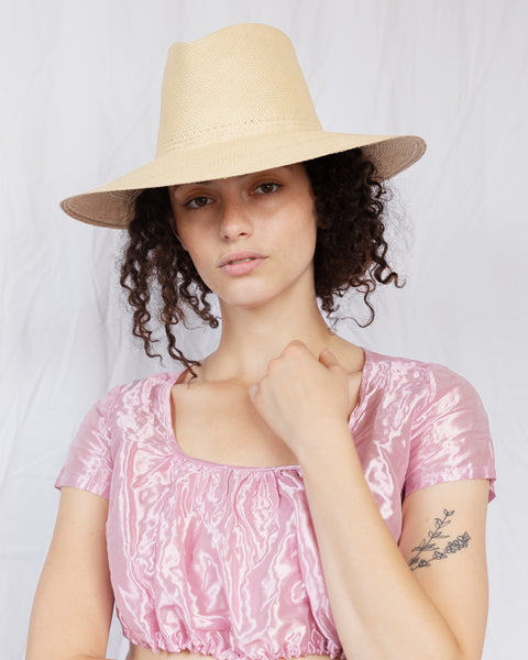 Pinch Panama Hat in Ecru - CLYDE