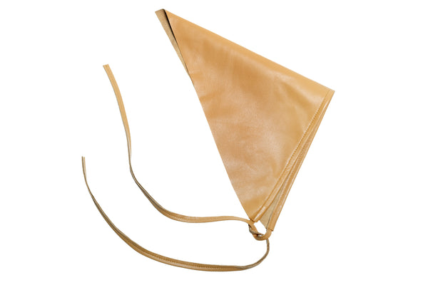 Lambskin Handkerchief Scarf in Apricot - CLYDE