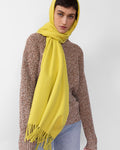 Albion Scarf in Chartreuse Merino Wool - CLYDE
