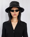 Lambskin Bucket Hat in Black - CLYDE
