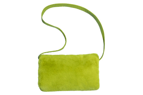 Muff Bag in Moss Fur - CLYDE
