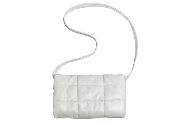 Muff Bag in Bone Lambskin - CLYDE