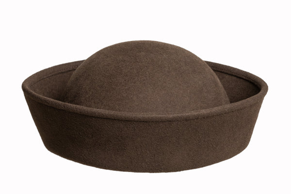 Crown Hat in Earth Wool - CLYDE