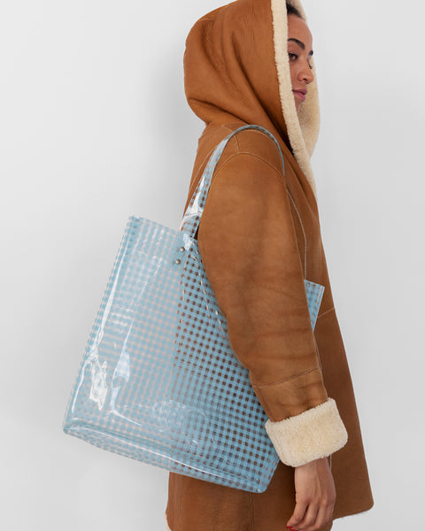 Lucid Tote in Blue Gingham - CLYDE