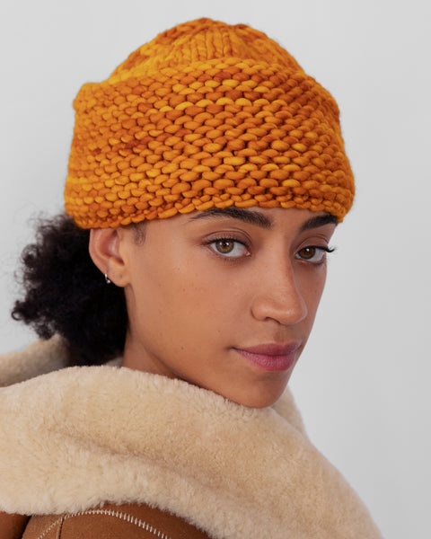 Knit Cossack in Marigold - CLYDE
