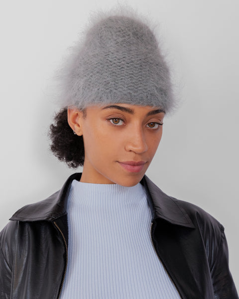 Mohair Hat in Slate - CLYDE