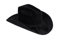 Cowboy Hat in Black Angora - CLYDE