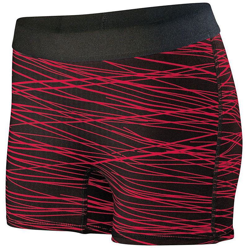 PHS CHEER  Ladies Hyperform Fitted Short  (STRIPED)