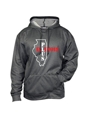 ILLINOIS PLUS Pro Heather Fleece Hoodie