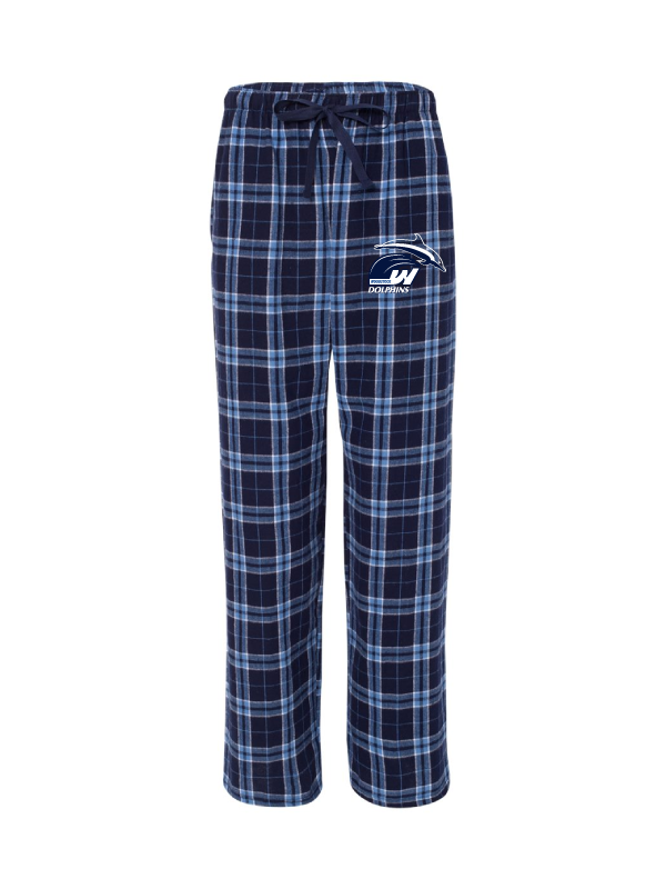 Woodstock Dolphins Youth and Adult flannel Pants