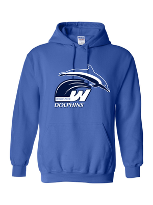Woodstock Dolphins Youth and Adult Sweatshirt Hoodie