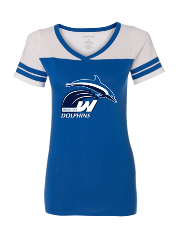 Woodstock Dolphins Girls and Ladies Powder Puff Tee
