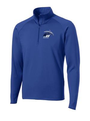Woodstock Dolphins Adult Sport Wick Stretch 1/4 Zip Pullover