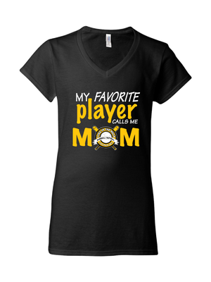 "LITHYAA ""Mom"" Softstyle v Neck Tee"