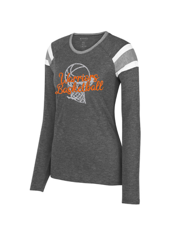 Warriors Basketball Ladies Fanatic Long Sleeve Tee #1