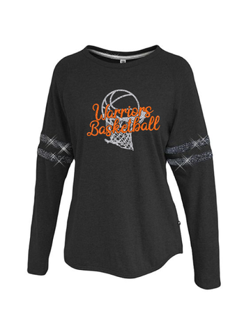 Warriors Basketball Ladies Sparkle Stripe Crew #1