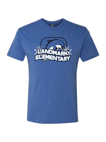 Landmark Youth and Adult Triblend Tee with Dolphin
