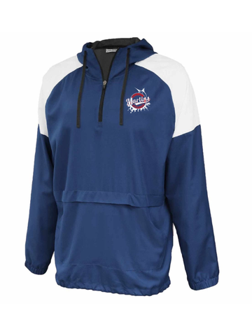 Marlins Youth & Adult Attack Anorak 1/4 Zip Windbreaker Hoodie