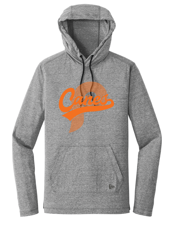Canes New Era Triblend Performance Hoodie Tee