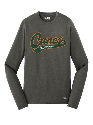 Pro Player Canes - New Era Performance Long Sleeve Tee