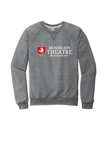 Mundelein Theatre Snow Heather French Terry Raglan Crew