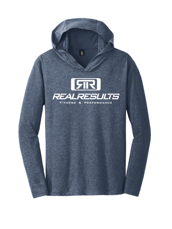 Real Results Men's Triblend Long Sleeve Lightweight Hoodie