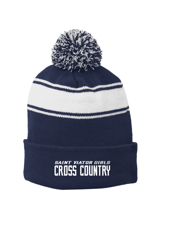 Saint Viator Girls Cross Country Pom Pom Beanie