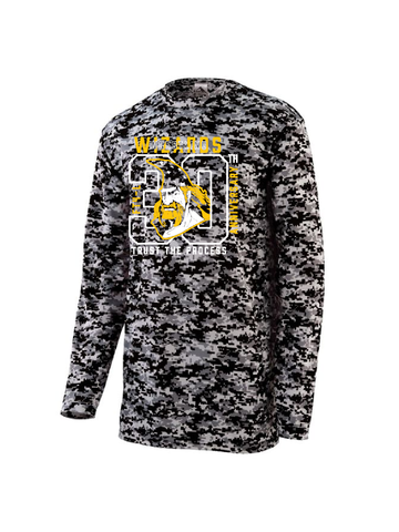 Wizards Youth & Adult 30th Anniversary Digi Camo Long Sleeve Wicking T Shirt
