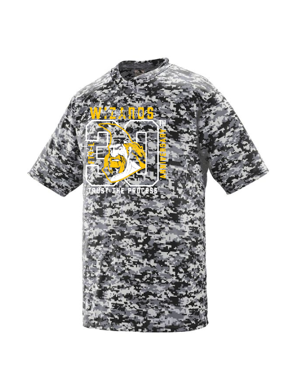 Wizards Youth & Adult Digi Camo Wicking T Shirt