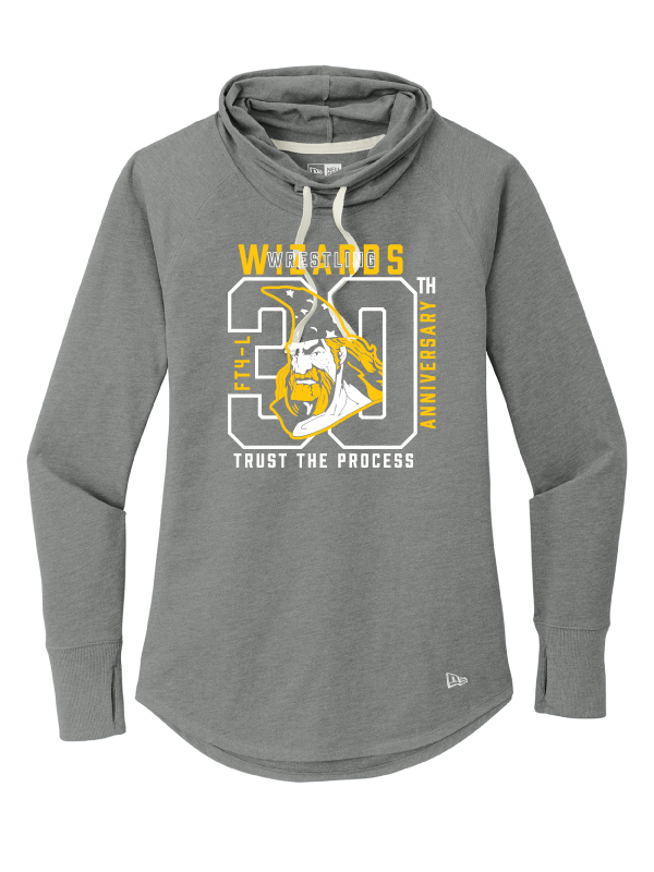 Wizards 30th Anniversary Ladies Sueded Cotton Blend Cowl Tee